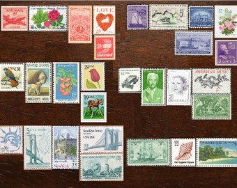 Your CUSTOM Design .. 70 cent .. Vintage UNused Postage Stamps .. to post 100 2oz standard envelopes