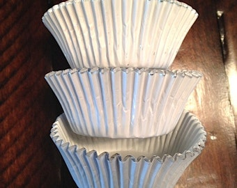 White Foil Cupcake Liners (50)