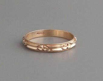 Geometric Eternity Ring. 14k Gold. Wedding Band. Stacking. Large Size.