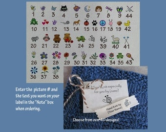 Personalized Knitting  Labels-Small Size Label /Tag Combo
