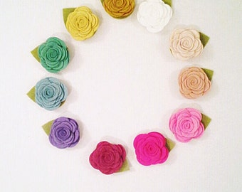Interchangeable SNAP Accessory--Felt rosette