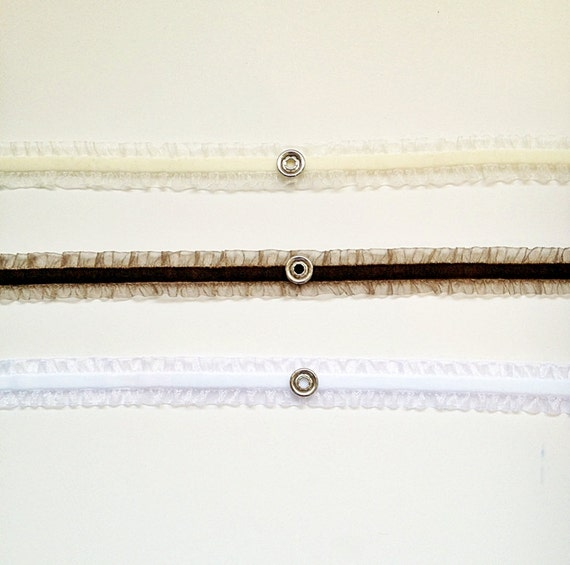 Interchangeable SNAP headband--velvet ruffle