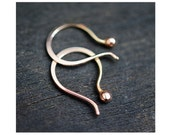 Rose Gold 14k Tiny Tear earrings