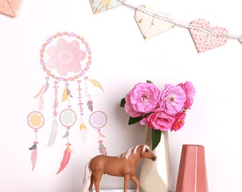 Mini Fabric Wall Decal - Dreamcatcher (reusable) NO PVC
