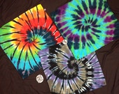 """Tie-Dyed Bandannas, 100% Cotton, 21"""" X 21"""", Hand-Dyed"""