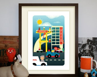 Fisher Price High Rise Garage Third Edition Variant A3 Artprint