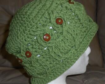 Crocheted  Hoot Owl Hat