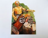C3PO Ewok Birthday Card Star Wars 1983