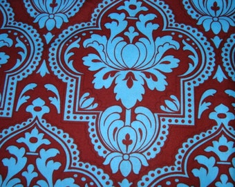 Jennifer Paganelli Girlfriend's Turquoise damask OOP FQ