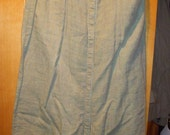 For Special Customer-100% Linen Vintage FLAX by Jeanne Engelhart Full Length Snap Front A-Line Skirt Size Petite