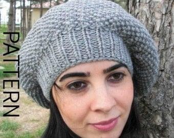 Hat  Knitting pattern Digital  Knitting PATTERN  French Hat Knitting  Pattern  Intermediate  women  hat Downloadable Pattern  Winter Fashion