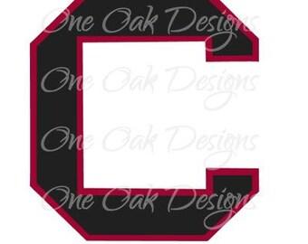 Athletic C SVG Vector DXF Design File Cameo Silhouette Studio Designer Edition (DE),  Vinyl Cut or Print Car Decal, etc.