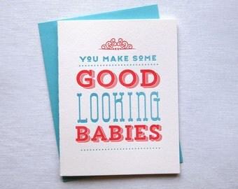 Good Looking Babies Card