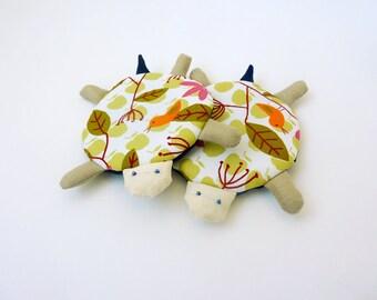 Cute Turtle Coaster, Fabric Coaster, Coasters, Coffee Mug Cozy, Cup Cozy, Drink Coaster, Cute Coasters - Turtle