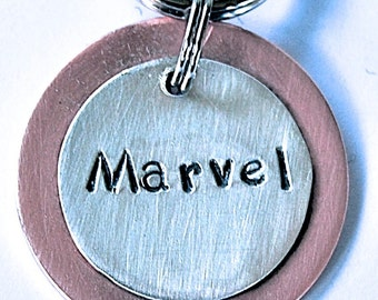 Dapper Dog Copper and Sterling Silver Pet ID Tag - Create your Own Design