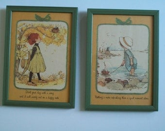 Hollie Hobbie Print In Frame Adorable Children with Quotation