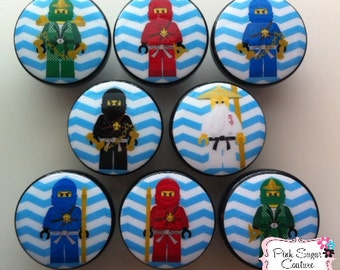 8 NINJA Handmade Knobs m2m Bedding Kids Nursery Room Drawer Pull Kids Decor boys chevron