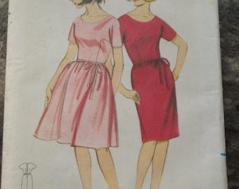 Butterick dress pattern #3366 Quick N Easy Dress  Size 11  Circa 1960s