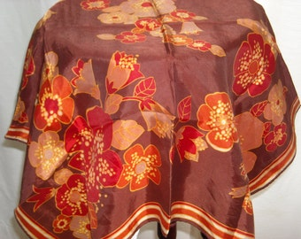 Pretty vintage scarf with floral print