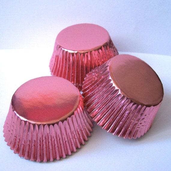 45 Light Pink Foil Cupcake Liners