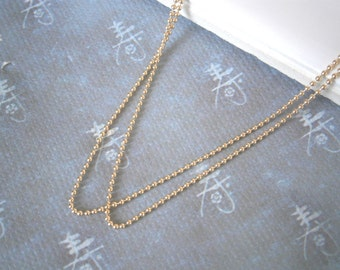 Gold Filled Chain, Delicate Chain, Gold Ball Chain, 1 mm Ball Chain, Layering Necklace