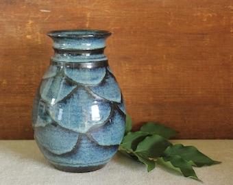 Vintage Hand Thrown Studio Art Pottery Mid Century Vase