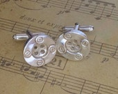 Sterling silver button cufflinks Hallmarked UK - Only pair ever made-will not be remade once sold!