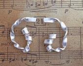 Seaweed earrings sterling silver