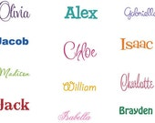 Custom Name Vinyl Wall Decal - Children Decal - Personalized Name Wall Decal - You choose colors and font