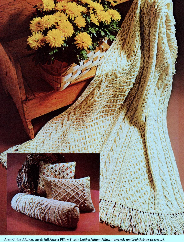 Instant Download Pdf Vintage Knitting Pattern For Aran