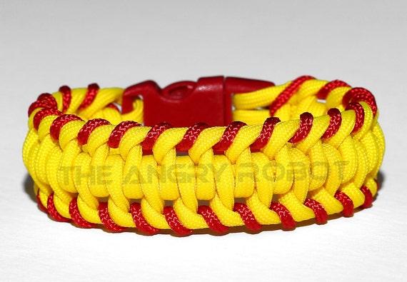 Stitched Paracord Bracelet Paracord Bracelet Yellow