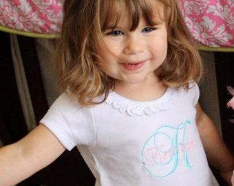 Personalized Girls Ruffle Dress