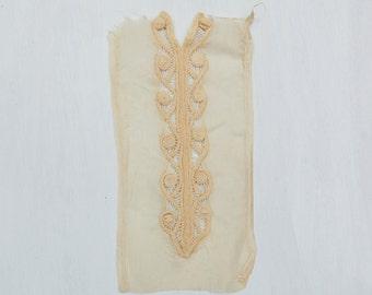 Vintage Lace Jabot Clothing BRIDAL Costume Accessory Embroidery Vintage Fine Handmade Fashion Collar
