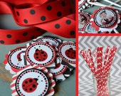 Lady Bug Birthday Party Decorations Red Black Fully Assembled