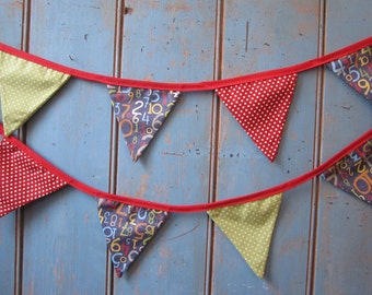 Children's Bunting.  Party Bunting // Kids Decor // Baby Shower Bunting // Numbers Bunting // Kids Party Decor // Kids Garland