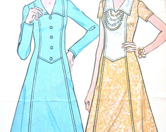 Vintage 1970s McCalls 3779 One Piece Dress Pattern   Bust 38 inches