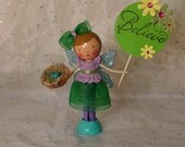 Believe - Garden Fairy Clothespin Doll