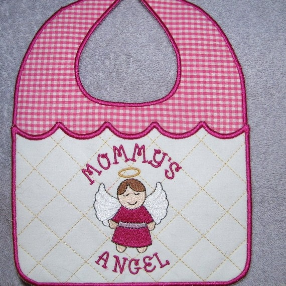 Items similar to machine embroidery design ith baby bib