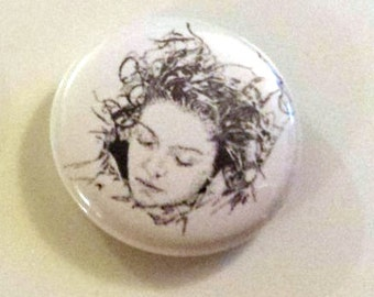 Laura Palmer Twin Peaks Pinback Button from Original Art by Maxx