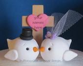 Christian Wedding Cake Topper Love Birds