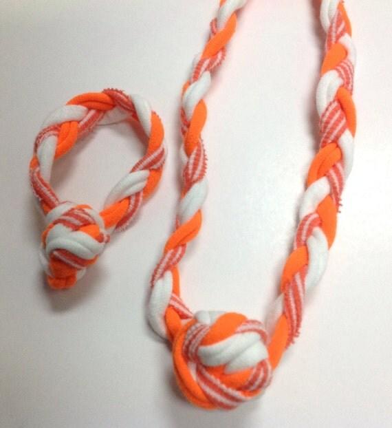 sensory jewelry set necklace and bracelet by