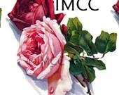 Instant Digital Download Vintage Red Pink Klein Roses Flowers Transparent PNG and Instructions to make Waterslide Decals Bonus! ECS