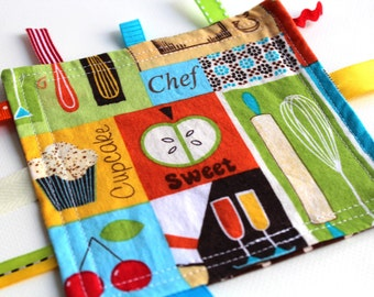 Fidget - Little Chef Edition - A Montessori and Waldorf Inspired Ribbon Baby Sensory Toy