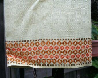Beautiful Vintage Linen German Table Cover