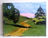 Impressionist Painting California Plein Air HILLS OAKS Country Road Landscape 11x14 Lynne French