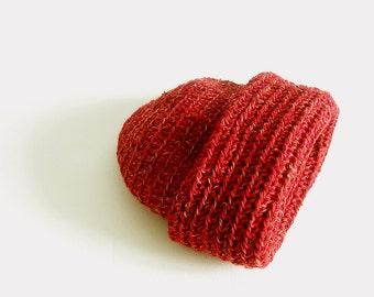 Slouchy Beanie Red Brick