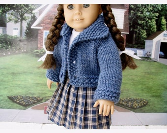 Eighteen 18 Inch Doll Molly Historical Set 1940s Sweater, Skirt, and Top for School