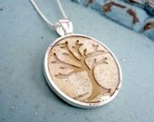 Rustic Wedding Bridesmaid's Jewelry -  Natural Birch Bark Necklace - Tree Silhouette - Woodland Rustic Country Wedding Bridesmaids Gift