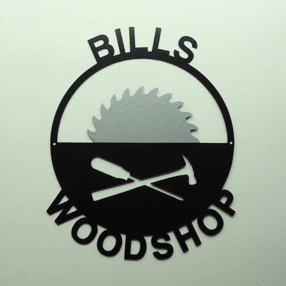 Custom Personalized Metal Art Shop Sign - Free USA Shipping