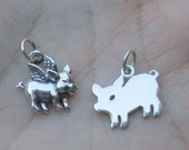 Sterling Silver Pig Charm(one charm)You choose which one